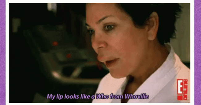 13 Times Kris Jenner Ruthlessly Roasted Her Family Members Without A Care| thumbnail text - forehead, my lip looks like who from whoville