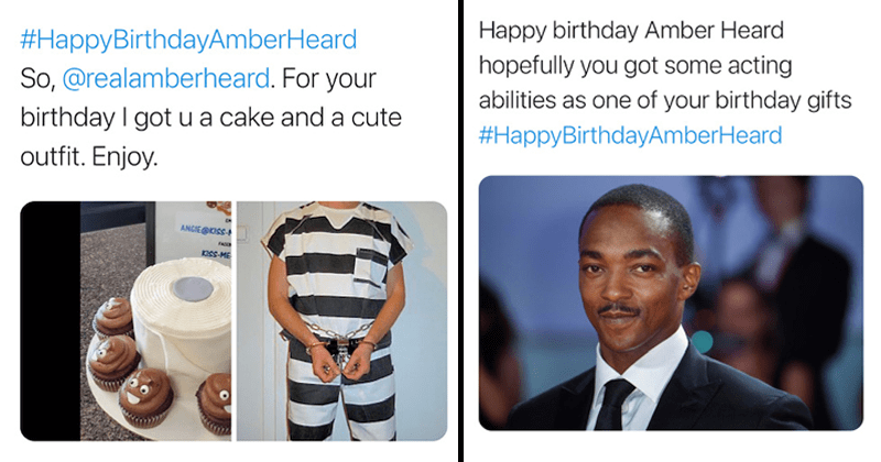 Twitter users insult Amber heard on her birthday