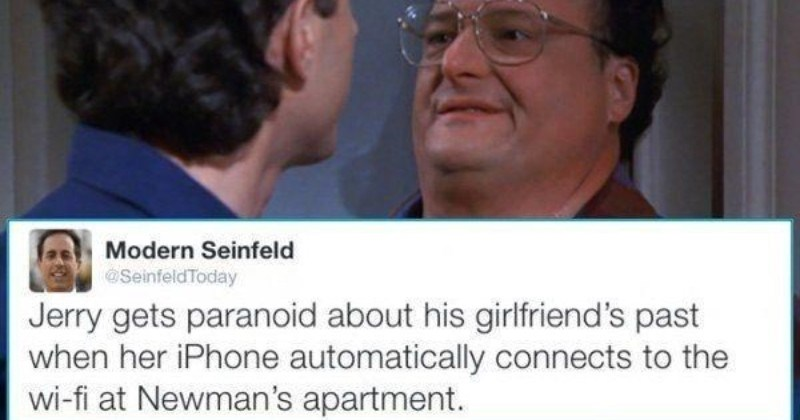 A collection of funny tweets about the modern day Seinfeld.