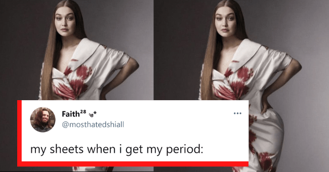 "Period Tweets Which Are Simply 'On Periodt'| thumbnail text - Bec Shaw ... @Brocklesnitch We love to forget that our period comes every month dont we. We love to feel all our little emotions and wonder where it's coming from and say ""ohhh of course I have my period"" and then do the same exact process about 4 weeks later don't we 3:59 PM · Apr 2, 2021 · Twitter for iPhone 92 Retweets 9 Quote Tweets 1,437 Likes"