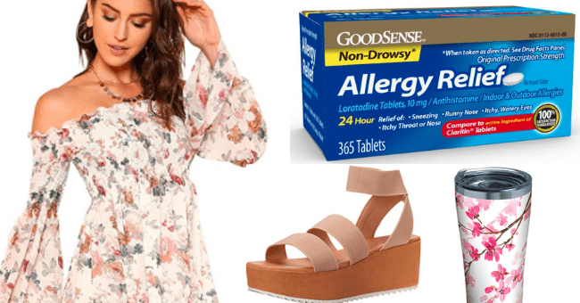 Spring season starter pack | thumbnail text - floral print dress and allergy relief