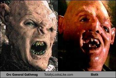 cult films General Gothmog goonies Lord of the Rings sloth - 1419766528