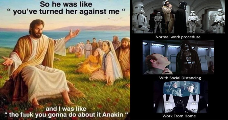 star wars memes, may the fourth, the force, star wars, obi wan, memes, funny, prequel memes, funny memes, nerdy memes, the mandalorian, anakin skywalker, the clone wars