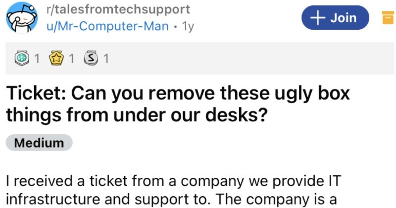 A department manager wrongly assumes that monitors don't need computers, and then learns otherwise.