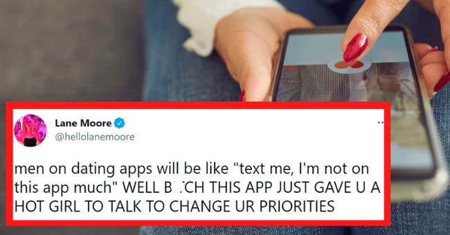 """Funny tweets about dating apps 