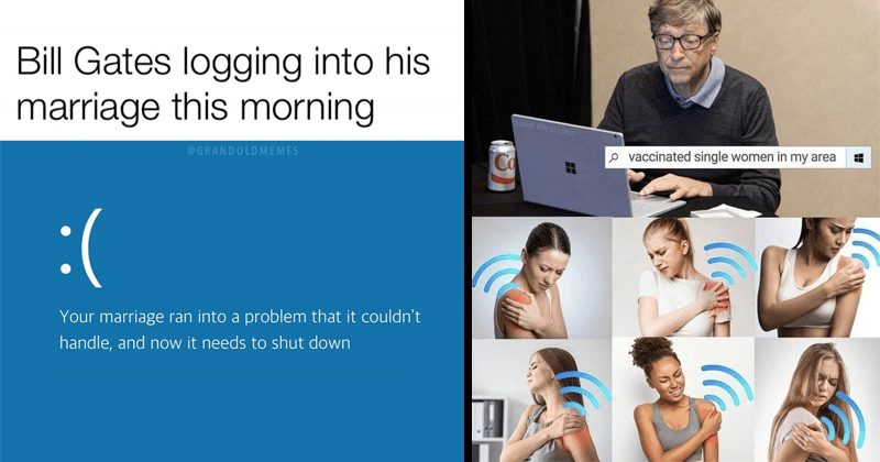 Funny memes and tweets about Bill and Melinda Gates' divorce