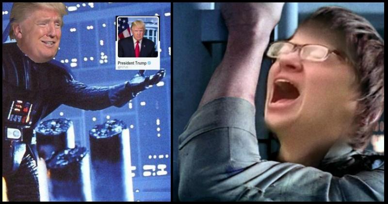 star wars meme trump protester