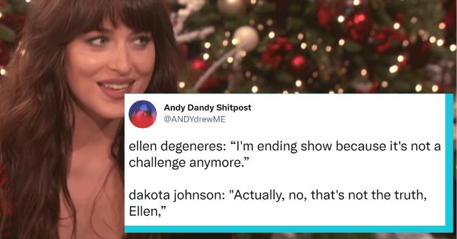 Ellen DeGeneres Ends Her Show, Dakota Johnson Memes Make A Comeback On Twitter| thumbnail text -