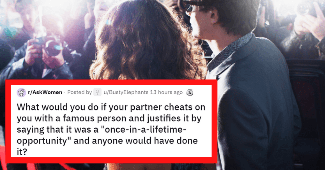 """Reddit thread about cheating with a celeb 
