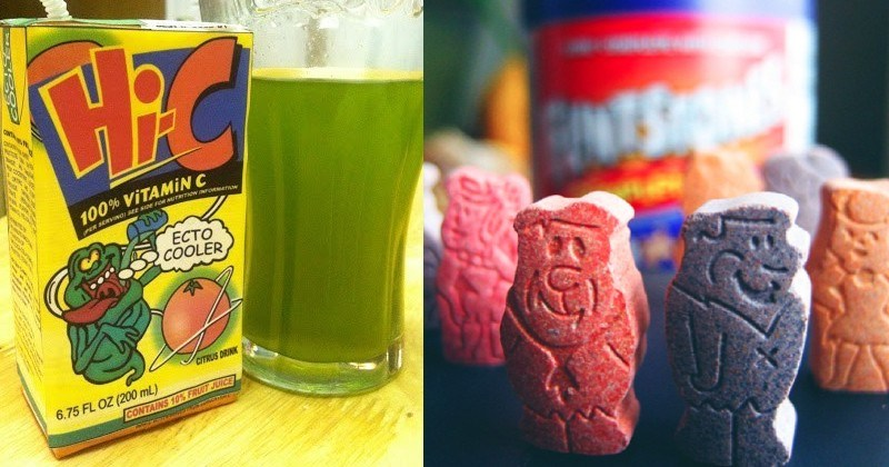 A collection of nostalgic foods and drinks for all the millennials out there.