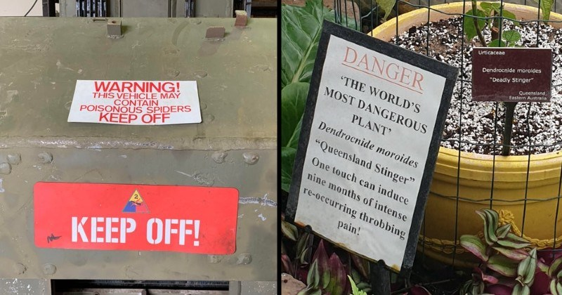 Scary and ominous warning signs