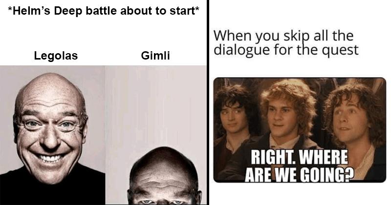 Funny Lord of the Rings memes, dank memes, stupid memes, Gandalf, Tolkien Tuesdays, Aragorn
