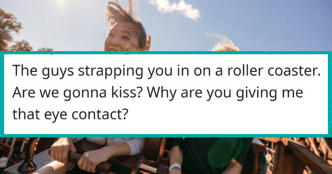 Completely Non-Sexual Things That Feel Very Sexual For No Reason| Thumbnail text - Anavalym · 4h The guys strapping you in on a roller coaster. Are we gonna kiss? Why are you giving me that eye contact? G Reply 109 ...