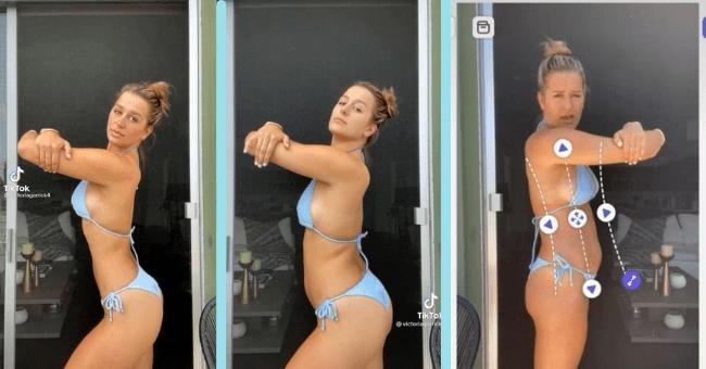TikToker Exposes How Celebrities Completely Edit Their Bodies In Videos| Thumbnail text - Tik Tok avictoriagarrick4