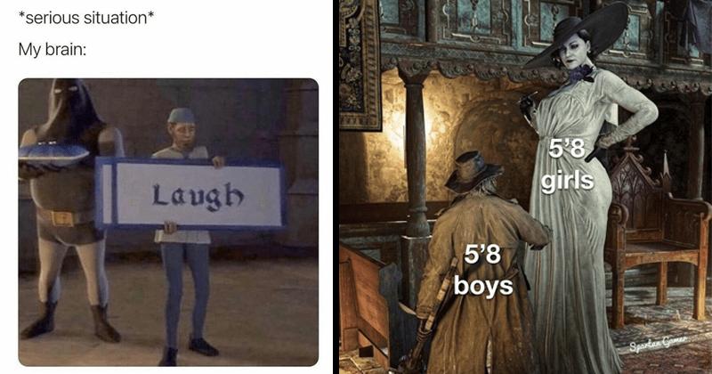 Funny random memes, dnak memes, resident evil, lady dimitrescu