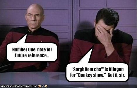 Captain Picard commander-william-t-riker Jonathan Frakes patrick stewart sci fi Shatnerday Star Trek TV - 1433715968