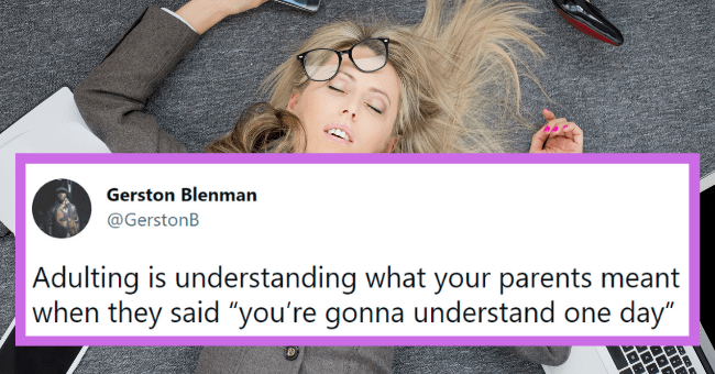 """Funny tweets about adulting 