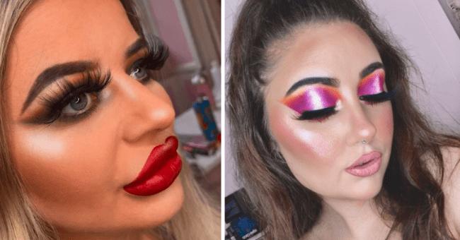 Makeup fails | thumbnail text - makeup