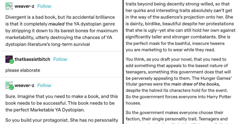 Tumblr takes apart young adult dystopian fiction