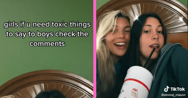 TikTok Users Disclose Toxic Comebacks That Can Be Used Against Even More Toxic Boys| thumbnail text - girls if u need toxic things to say to boys check the comments d TikTok @emmaj_mason