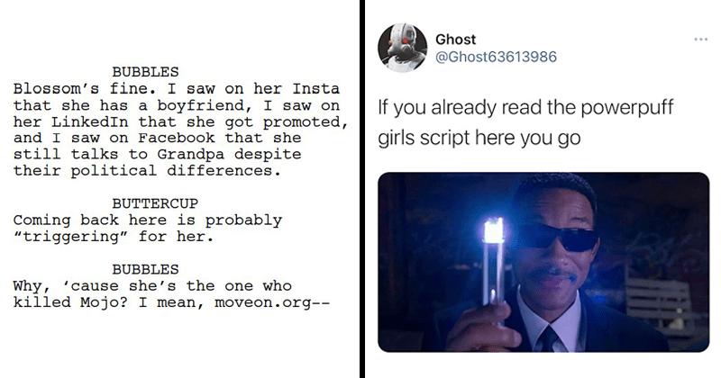 Cringe, Powerpuff girls leaked script, twitter reactions, tweets