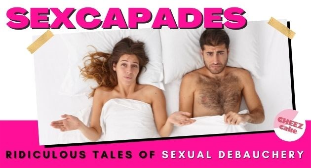 man forced to do embarrassing walk of shame after awkward one night stand on Halloween | thumbnail text - Sexcapades Ridiculous tales of sexual debauchery...