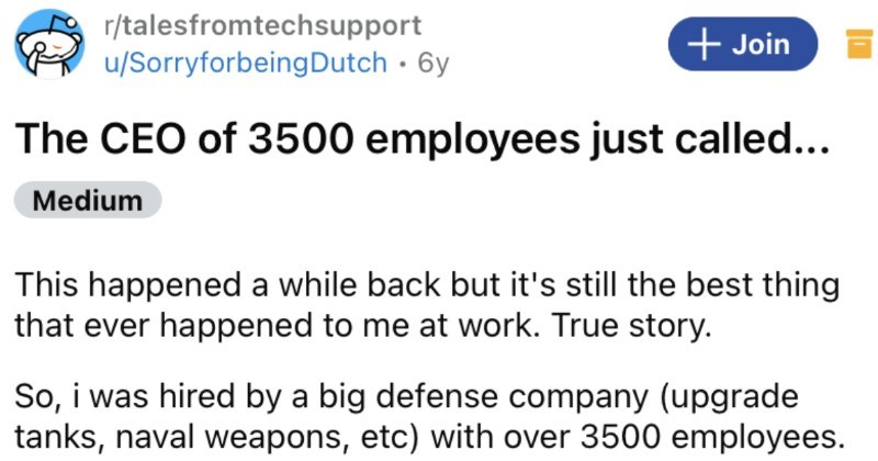 The CEO of 3,500 employees thinks computer's been hacked, learns otherwise.