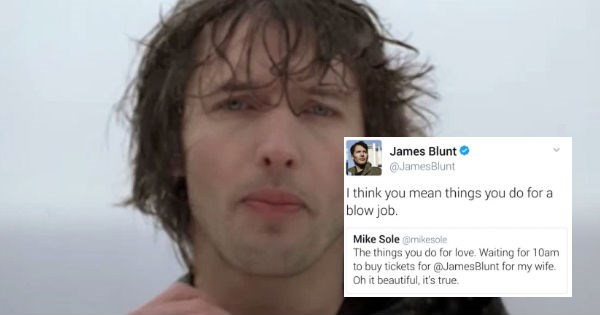 james blunt replies to man buying tickets for his wife