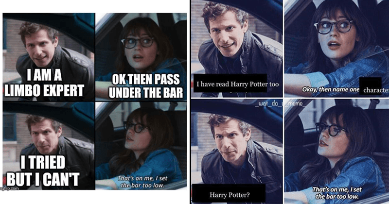 Funny memes from Brooklyn Nine-Nine and New Girl, That's on me, i set the bar really low