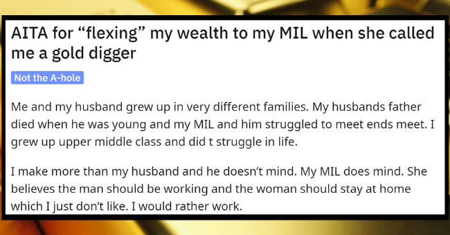 """Insecure Husband Angry At Wife For Revealing To His Mom That She Makes More Money