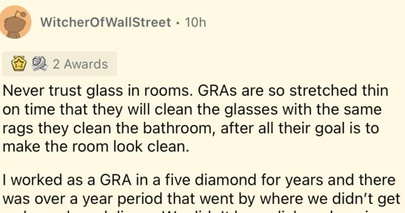 5-star hotel workers reveal their dirtiest secrets.