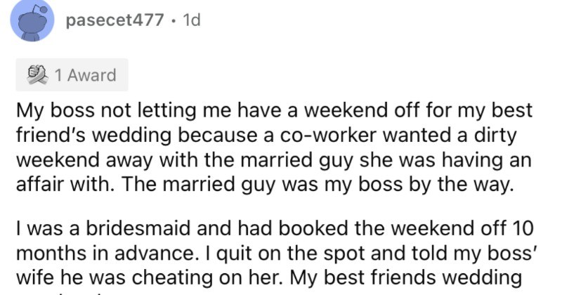 People describe the reasons that they quit their jobs on the spot.