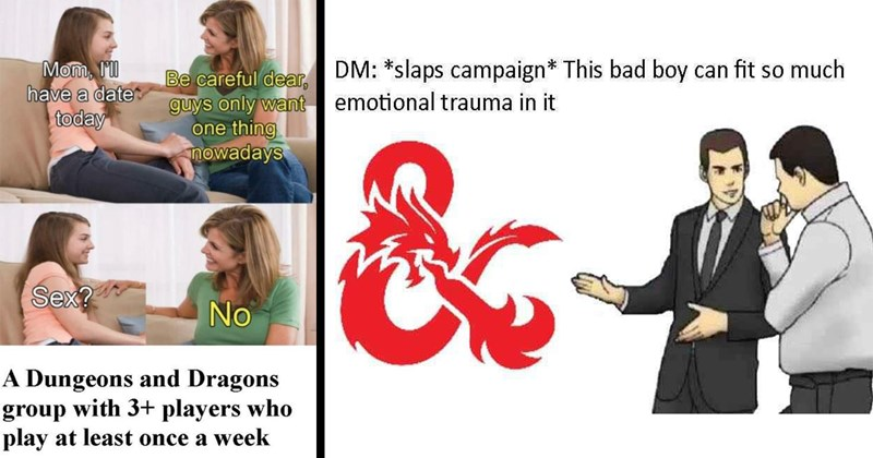 dnd memes, dungeons and dragons, funny memes, nerdy memes, relatable memes, d&d, dank memes, tabletop games, gaming memes, gaming