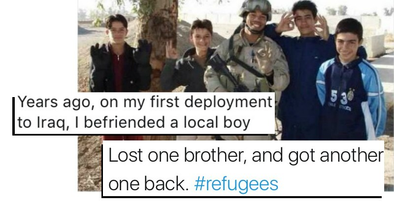 wholesome,veterans,feel good,heartwarming,refugee,win
