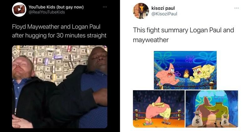 floyd mayweather, logan paul, twitter memes, funny tweets, twitter, boxing, rigged, fake, memes, mayweather memes, youtubers, celebs, sports