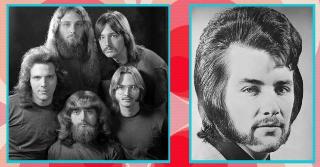 1970s men's hairstyes that need to stay in the 1970s | thumbnail two images of men's hairstyles