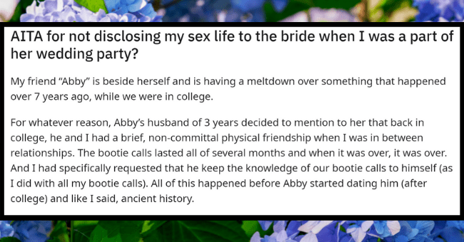 """Women Neglects To Tell Close Friend That She Used To Sleep With Her Husband