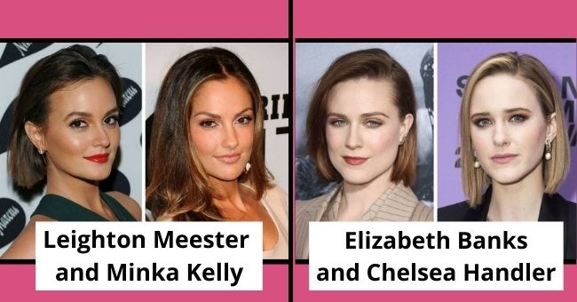 celebrities who aren't related but who look like siblings | thumbnail includes four images of celebrities text - Leighton Meester and Minka Kelly Elizabeth Banks and Chelsea Handler