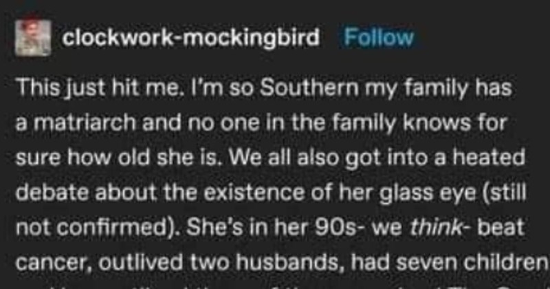 funny tumblr story about mamaw