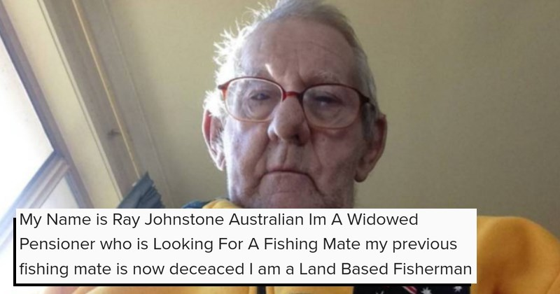 old man searching for fishing mate online