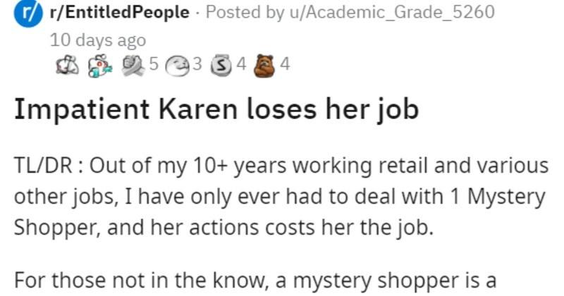 Customer service stands up to Karen secret shopper, then she gets fired