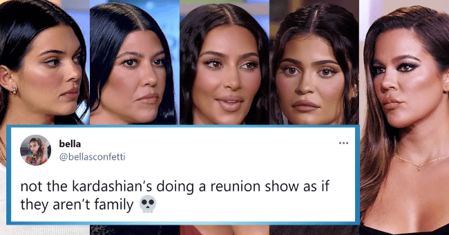 Saucy Fan Reactions To The KUWTK Reunion| thumbnail text - bella bellasconfetti not kardashian's doing reunion show as if they aren't family 9:29 PM Jun 17, 2021 Twitter iPhone 1 Retweet 25 Likes