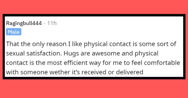 Askmen reddit thread | thumbnail text - physical contact