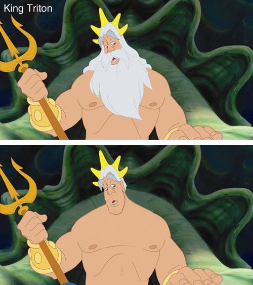disney characters without beards