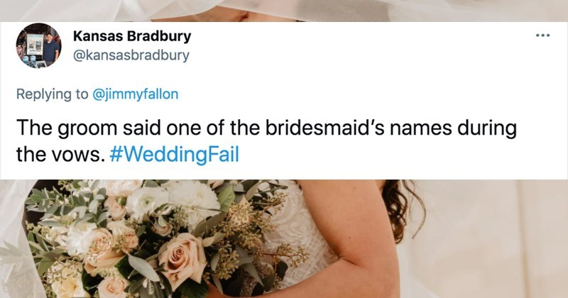 People describe their craziest wedding fails in a ridiculous Twitter thread.