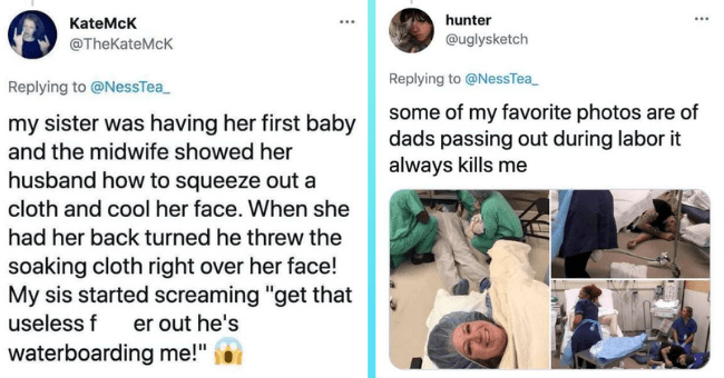 """Dads Who Totally Lost It In The Delivery Room 