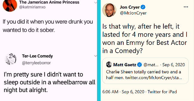 Wicked Comebacks That Must Have Felt Undeniably Satisfying| thumbnail text - The Jamerican Anime Princess @katmiriamxo If you did it when you were drunk you wanted to do it sober. Ter-Lee Comedy @terryleeborror I'm pretty sure I didn't want to sleep outside in a wheelbarrow all night but alright.