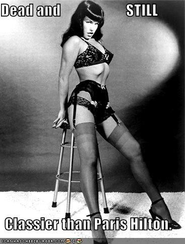 Bettie Page,dead yet fabulous,the hawt