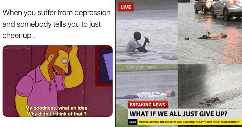 Funny and relatable memes about depression, sadness, anxiety, mental health