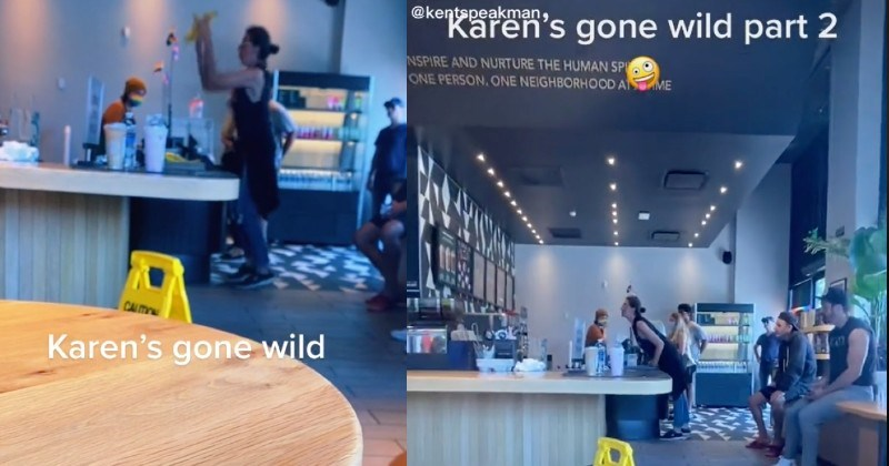 Karen ends up having a total public freakout in a Starbucks on some bananas.